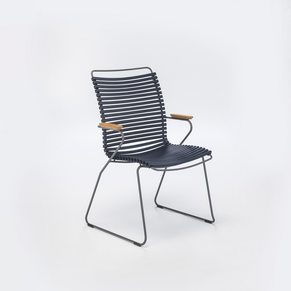 DINING CHAIR TALL BACK // Dark Blue