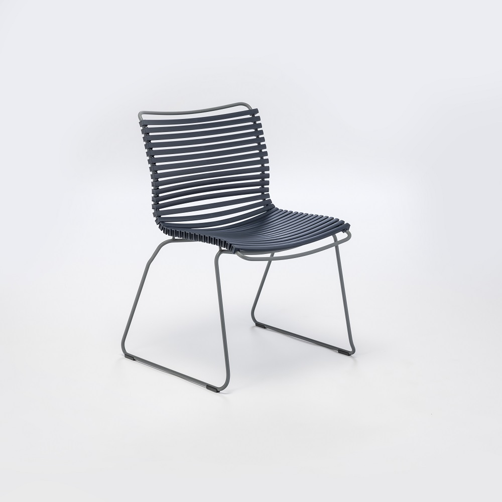 DINING CHAIR NO ARMRESTS // Dark Blue