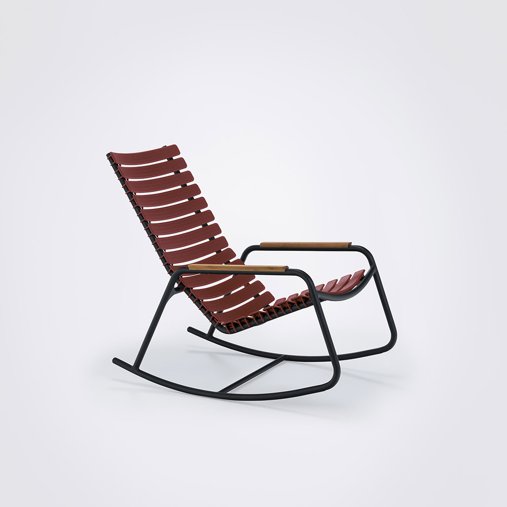 ROCKING CHAIR // Paprika // Bamboo armrests