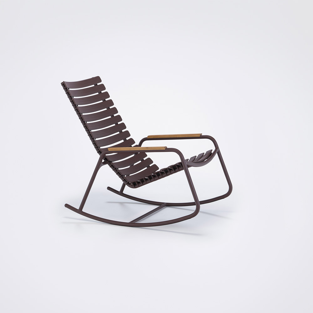 ROCKING CHAIR // Plum // Bamboo armrests